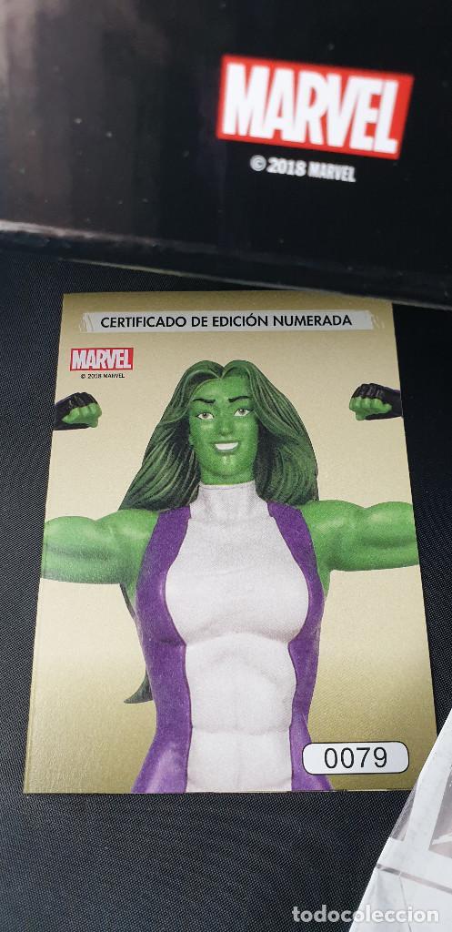 Figuras y Muñecos Marvel: BUSTO MARVEL - HULKA - Nº 50 - SUPERHÉROES MARVEL - COLECCION - 2019 - CON FASCÍCULO - Foto 6 - 215077497