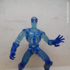 Figuras y Muñecos Marvel: FIGURA MARVEL SPIDERMAN CLEAR BLUE ICE ARMOUR 1996 TOY BIZ. Lote 215446270