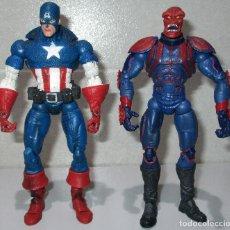 Figuras e Bonecos Marvel: FIGURAS CAPITÁN CAPTAIN AMERICA Y RED SKULL CRANEO ROJO, MARVEL LEGENDS FACE OFF, TOY BIZ 2006. Lote 215961283