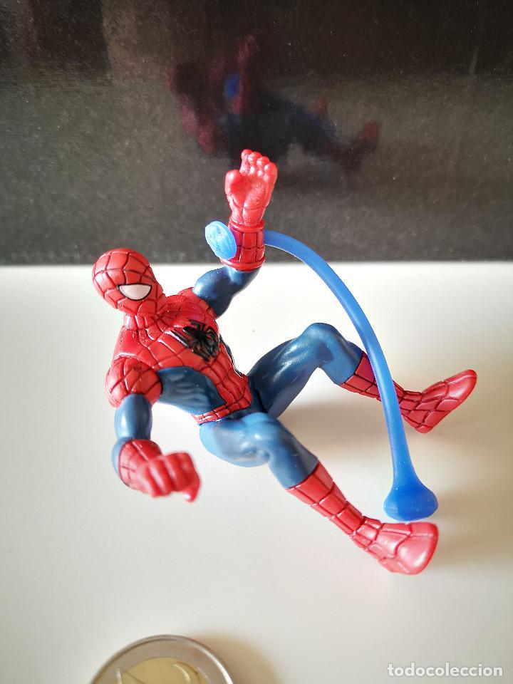 Figuras y Muñecos Marvel: RARA FIGURA PVC SPIDERMAN HASBRO SPIDER MAN ARTICULADA MUÑECO MARVEL BUEN ESTADO VENGADORES - Foto 4 - 218305127