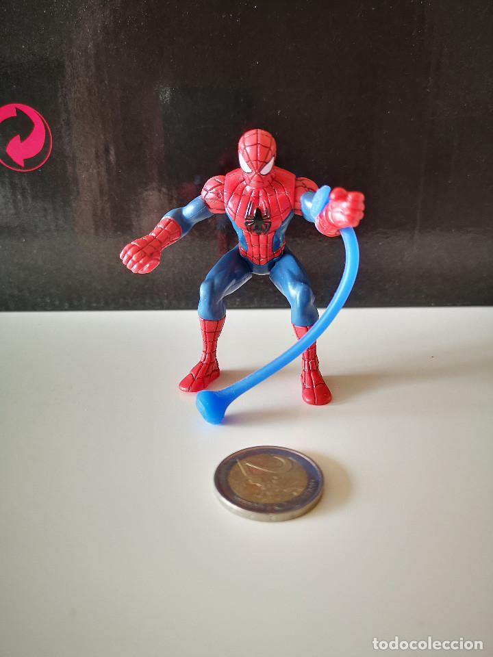 Figuras y Muñecos Marvel: RARA FIGURA PVC SPIDERMAN HASBRO SPIDER MAN ARTICULADA MUÑECO MARVEL BUEN ESTADO VENGADORES - Foto 6 - 218305127