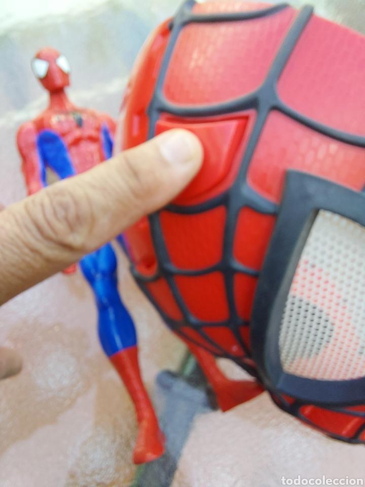 Figuras y Muñecos Marvel: MASCARA SPIDERMAN CON LUZ+FIGURA DE ACCIÓN SPIDERMAN /SUPER HEROE MARVEL - Foto 5 - 218578348