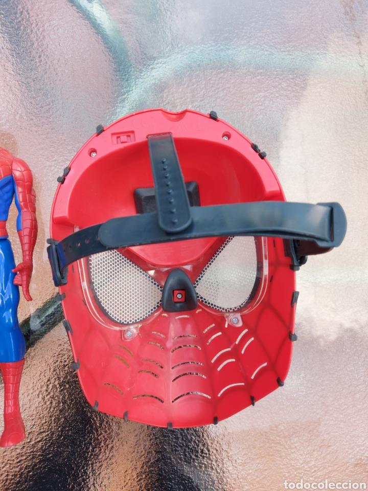 Figuras y Muñecos Marvel: MASCARA SPIDERMAN CON LUZ+FIGURA DE ACCIÓN SPIDERMAN /SUPER HEROE MARVEL - Foto 8 - 218578348