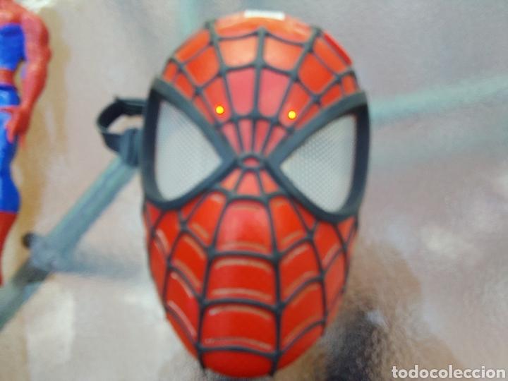Figuras y Muñecos Marvel: MASCARA SPIDERMAN CON LUZ+FIGURA DE ACCIÓN SPIDERMAN /SUPER HEROE MARVEL - Foto 10 - 218578348