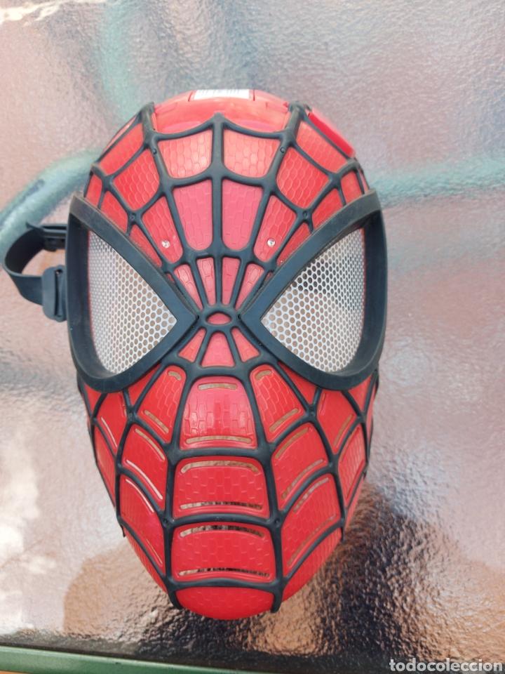 Figuras y Muñecos Marvel: MASCARA SPIDERMAN CON LUZ+FIGURA DE ACCIÓN SPIDERMAN /SUPER HEROE MARVEL - Foto 11 - 218578348
