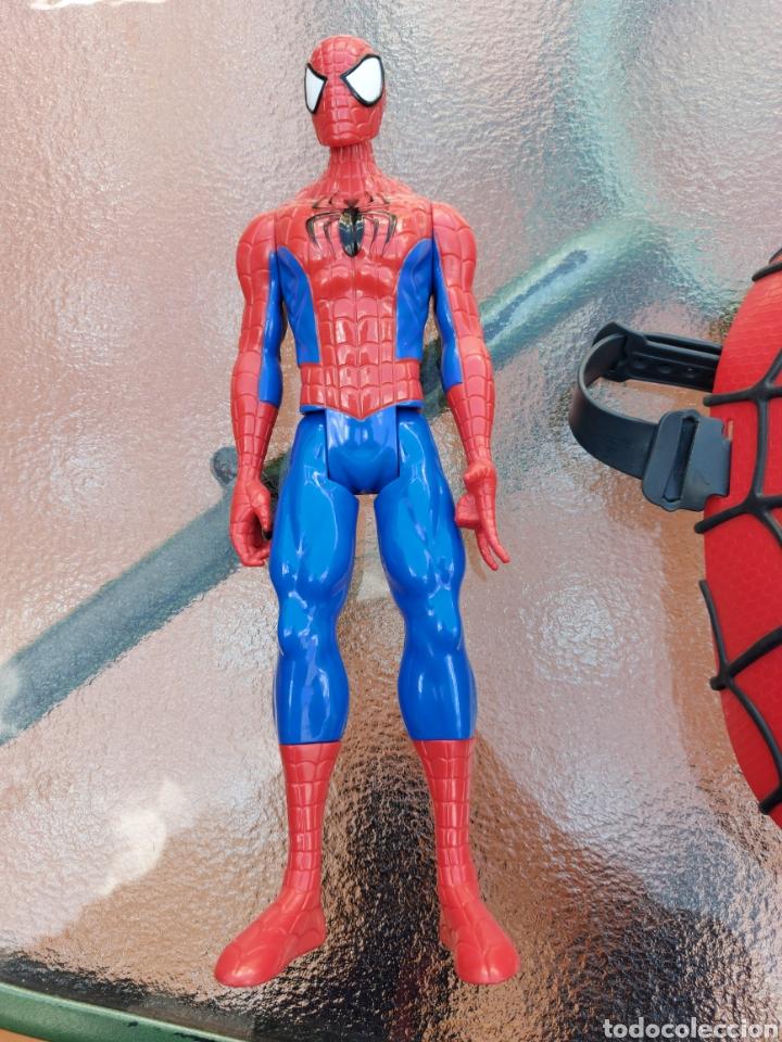 Figuras y Muñecos Marvel: MASCARA SPIDERMAN CON LUZ+FIGURA DE ACCIÓN SPIDERMAN /SUPER HEROE MARVEL - Foto 12 - 218578348