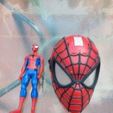 Figuras y Muñecos Marvel: MASCARA SPIDERMAN CON LUZ+FIGURA DE ACCIÓN SPIDERMAN /SUPER HEROE MARVEL. Lote 218578348