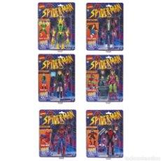 Figuras y Muñecos Marvel: FIGURAS SPIDERMAN VINTAGE MARVEL LEGENDS SET COMPLETO. Lote 218666248