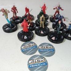 Figuras y Muñecos Marvel: LOTE LOTAZO COLECCIÓN 12 UNIDADES MARVEL ORIGINAL HEROCLIX. Lote 219053351