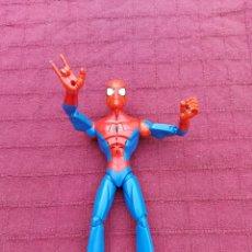 Figuras y Muñecos Marvel: FIGURA DE ACCIÓN SPIDERMAN ELECTRÓNICA ARTICULADA MARVEL 2008 ADELAIDE, HEROE DE LOS VENGADORES. Lote 220227540