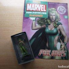 Figuras y Muñecos Marvel: FIGURAS MARVEL DE COLECCION - NUMERO 53 - POLARIS - FIGURA EN SU CAJA Y FASCICULO. Lote 221656998