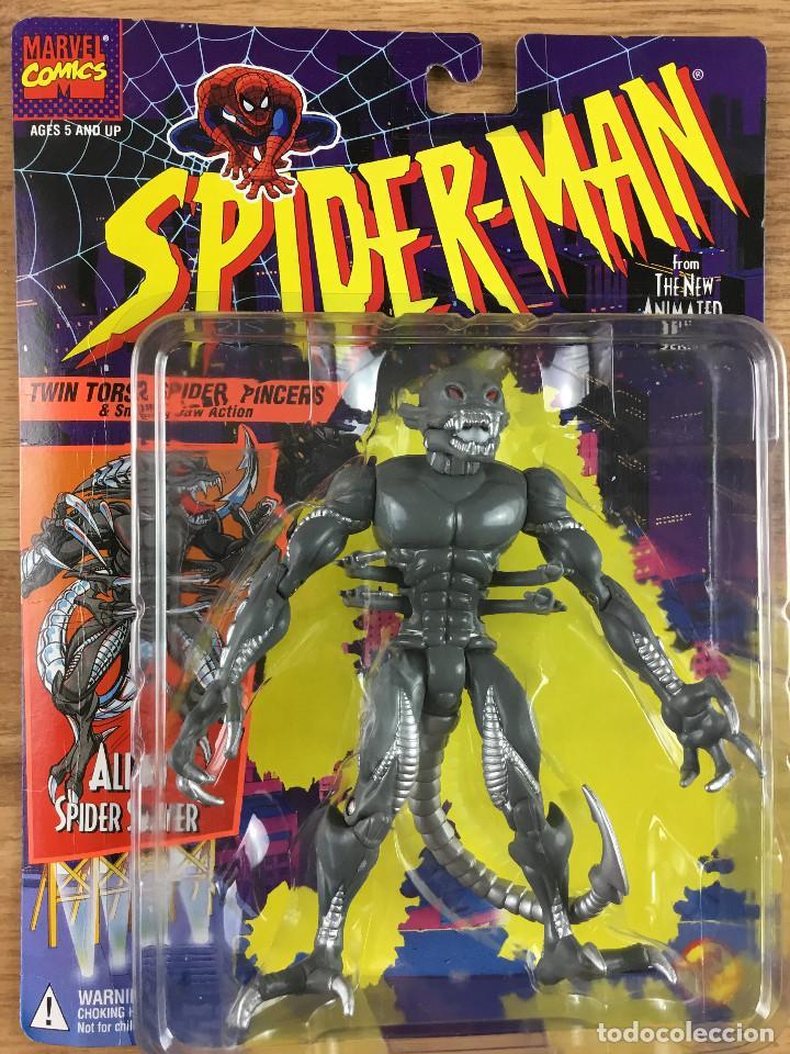 SPIDERMAN - SPIDER-MAN - ALIEN SPIDER SLAYER - FIGURA DE ACCIÓN TOY BIZ NEW YORK 1994 (Juguetes - Figuras de Acción - Marvel)