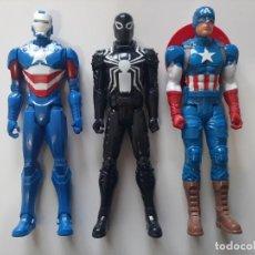 Figuras y Muñecos Marvel: LOTE IRON PATRIOT CAPITAN AMERICA Y AGENTE VENON MARVEL. Lote 222201806