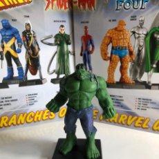 Figuras y Muñecos Marvel: FIGURA HULK MARVEL PLOMO CON FASCICULO. Lote 222317142