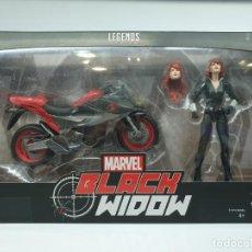 Figuras y Muñecos Marvel: FIGURA VIUDA NEGRA CON MOTO MARVEL LEGENDS. Lote 222580445