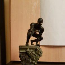 Figuras y Muñecos Marvel: SPIDER MAN NEGRO MARVEL PLOMO. Lote 222608323