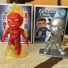 Figuras y Muñecos Marvel: LOS 4 FANTASTICOS. 2 FIGURAS FUNKO CABEZONAS DE LOS 4 FANTASTICOS.. Lote 223114446