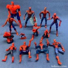 Figuras y Muñecos Marvel: LOTE DE 13 SPIDERMAN - HOMBRE ARAÑA - DIFERENTES TAMAÑOS - DE 4 CM A 20 CM - MARVEL. Lote 223118202