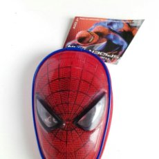 Figuras y Muñecos Marvel: ESTUCHE ESCOLAR CARA SPIDER-MAN. MUY RARO. NUEVO. Lote 224583123