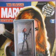 Figuras y Muñecos Marvel: FIGURA DE PLOMO MARVEL THE BLACK WIDOW Nº 72, CON CAJA Y REVISTA, LA VIUDA NEGRA. Lote 227660290