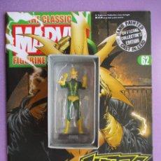 Figuras y Muñecos Marvel: FIGURA DE PLOMO MARVEL ELECTRO Nº 62, CON CAJA Y REVISTA,. Lote 227660600
