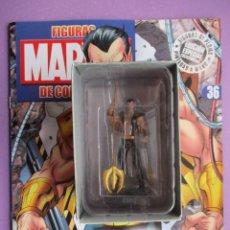 Figuras y Muñecos Marvel: FIGURA DE PLOMO MARVEL NAMOR Nº 36, CON CAJA Y REVISTA , ALTAYA. Lote 227666995