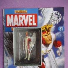 Figuras y Muñecos Marvel: FIGURA DE PLOMO MARVEL ANGEL Nº 31, CON CAJA Y REVISTA , ALTAYA. Lote 227667565