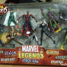 Figuras y Muñecos Marvel: SPIDERMAN VS SINISTER 6 COLECCION MARVEL LEGENDS, VENOM, BLACK CAT, DR. OCTOPUS ELECTRO GREEN GOBLIN. Lote 229391960