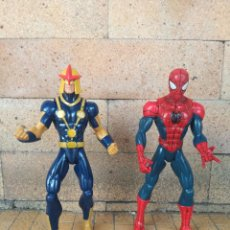Figuras e Bonecos Marvel: LOTE 2 MUÑECOS COMICS MARVEL HASBRO 2012 - ALTURA: 15 CM SPIDERMAN ... Y OTRO SUPER HEROE. Lote 229863165