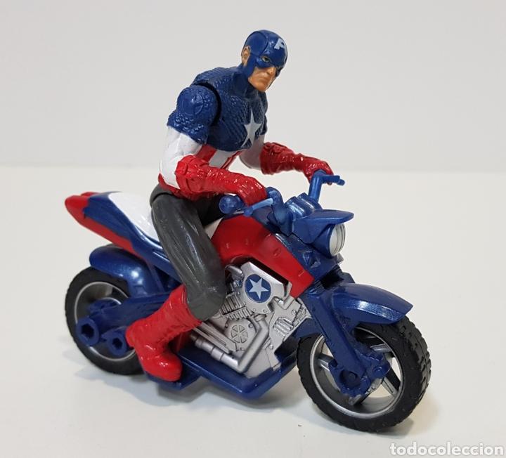 CAPITÁN AMÉRICA CON MOTO - 2011 - MARVEL - HASBRO (Juguetes - Figuras de Acción - Marvel)
