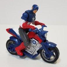 Figuras y Muñecos Marvel: CAPITÁN AMÉRICA CON MOTO - 2011 - MARVEL - HASBRO. Lote 229882720