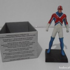 Figuras y Muñecos Marvel: FIGURA CAPITAN BRITANIA, PLOMO PINTADO, FIGURAS MARVEL DE COLECCION, ALTAYA, NUEVO EN CAJA. Lote 230841150