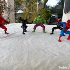 Figuras e Bonecos Marvel: LOTE 6 FIGURA PVC MARVEL YOLANDA 1996 DAREDEVIL HULK SPIDERMAN 10CM. Lote 235966175