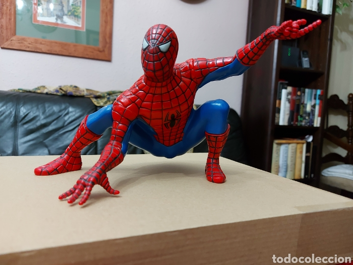 Figuras y Muñecos Marvel: FIGURA DE ACCIÓN SPIDERMAN (BOTE DE COLONIA O CHAMPÚ)/SUPER HEROE MARVEL - Foto 2 - 237021855