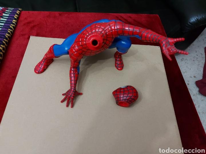 Figuras y Muñecos Marvel: FIGURA DE ACCIÓN SPIDERMAN (BOTE DE COLONIA O CHAMPÚ)/SUPER HEROE MARVEL - Foto 12 - 237021855