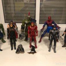 Figuras y Muñecos Marvel: SÚPER LOTE FIGURAS GIGANTES MARVEL HULK IRON MAN THOR ELECTRÓNICOS VER FOTOS. Lote 241290720