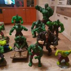 Figuras y Muñecos Marvel: GRAN LOTE 14 FIGURAS DEL INCREIBLE HULK EN MUY BUEN ESTADO.. Lote 241795750