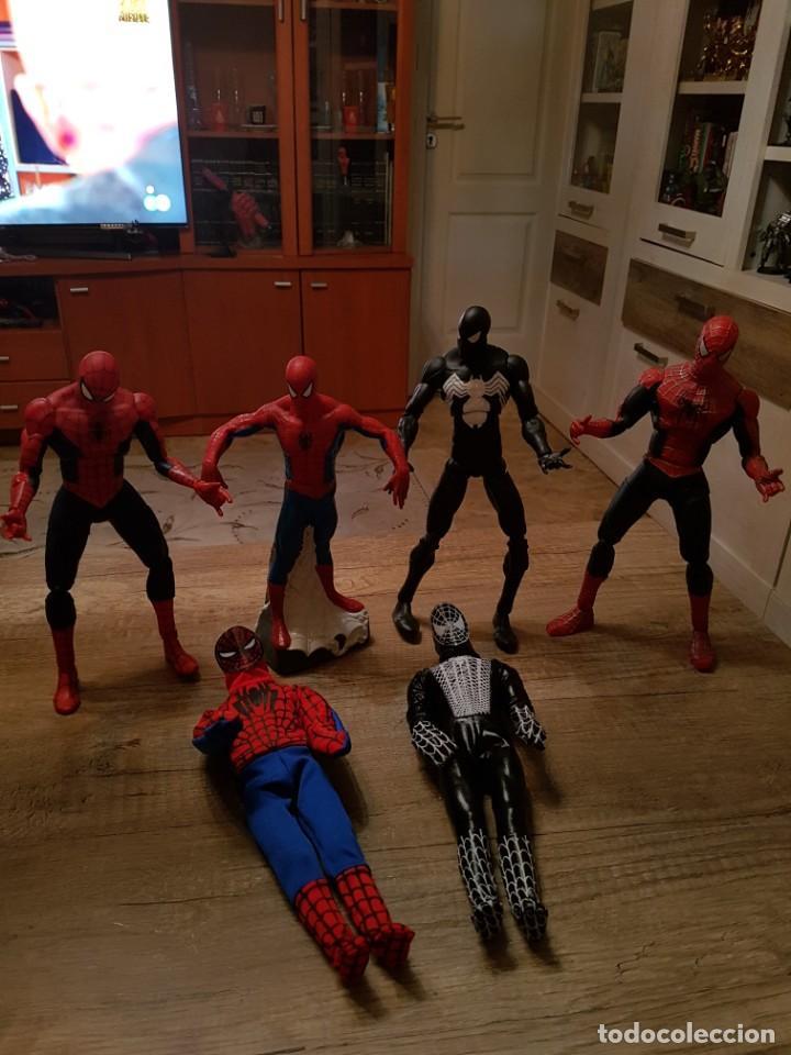 GRAN LOTE DE 6 FIGURAS DE SPIDERMAN DE GRAN TAMAÑO. (Juguetes - Figuras de Acción - Marvel)