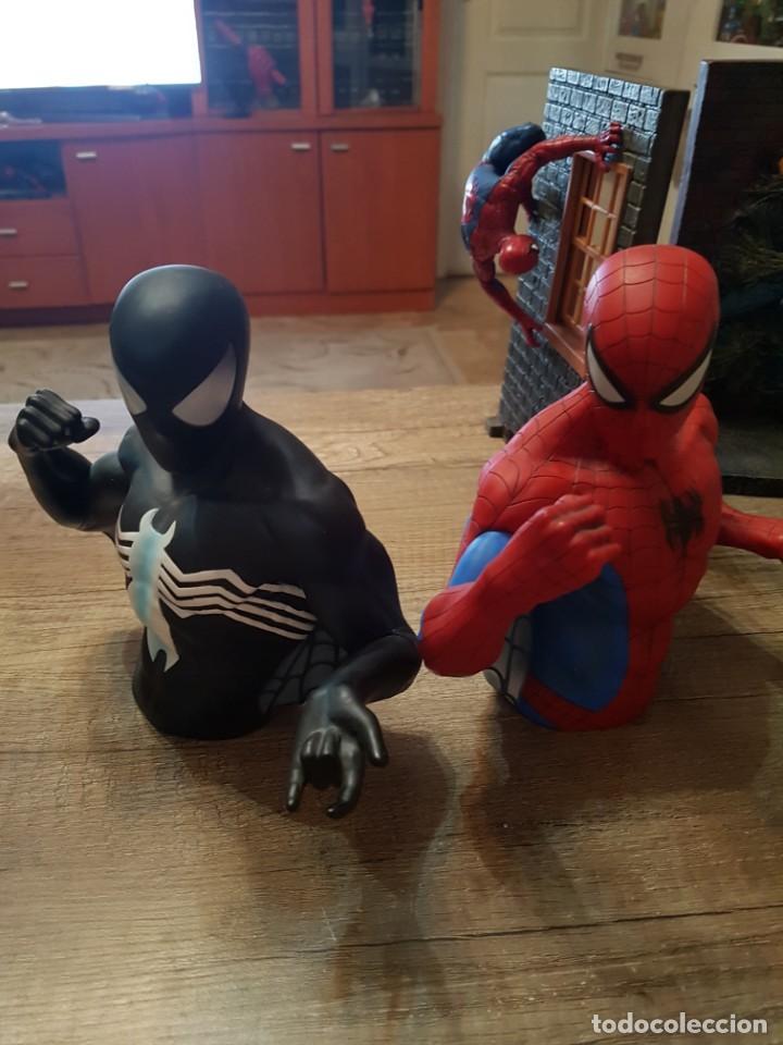 Figuras y Muñecos Marvel: LOTE DE 6 FIGURAS MARVEL SPIDERMAN DE GRAN TAMAÑO.( 4 FIGURAS SON HUCHAS ) - Foto 3 - 241943105