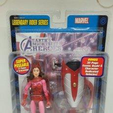 Figuras y Muñecos Marvel: MARVEL LEGENDS BRUJA SCARLATA. LEGENDARY RIDERS. SCARLET WITCH. 2005.. Lote 242487160