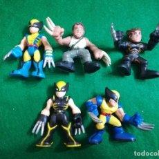 Figuras y Muñecos Marvel: MARVEL SUPER HERO SQUAD , CINCO LOBEZNO DIFERENTES. Lote 243270235