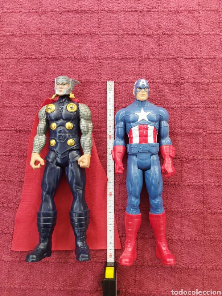 Figuras y Muñecos Marvel: FIGURA DE ACCIÓN THOR HASBRO MARVEL 2013- CAPITÁN AMÉRICA HASBRO 2013-SUPER HEROES LOS VENGADORES - Foto 2 - 252445445