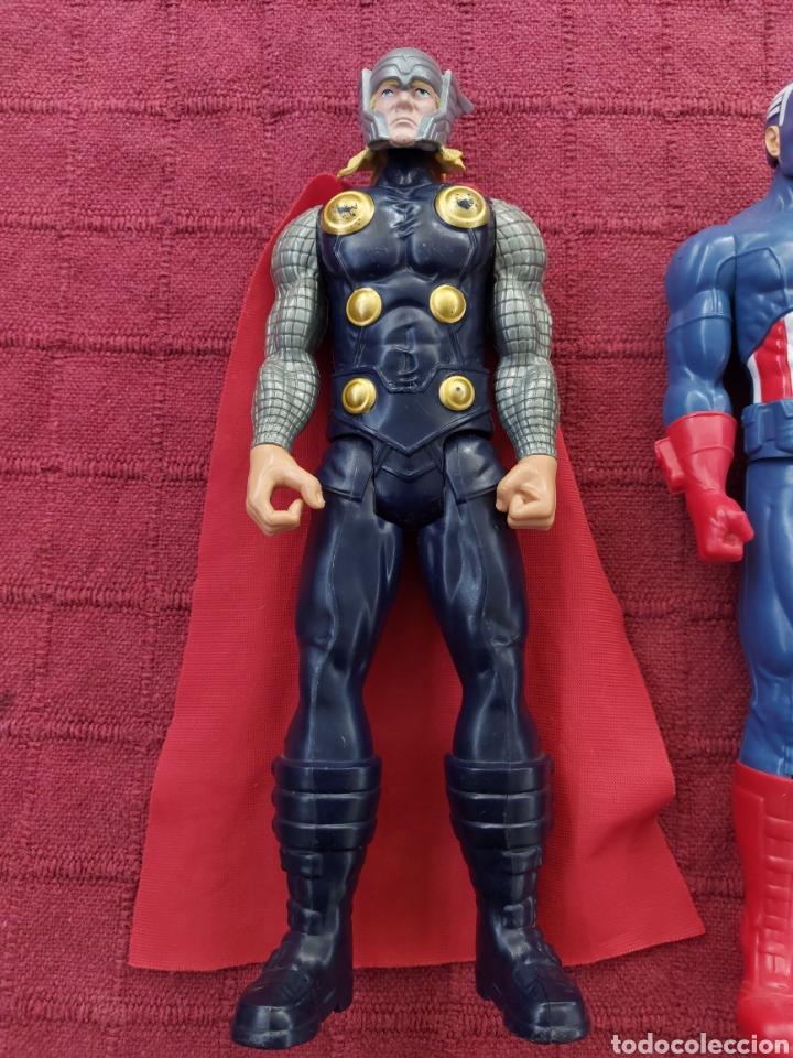 Figuras y Muñecos Marvel: FIGURA DE ACCIÓN THOR HASBRO MARVEL 2013- CAPITÁN AMÉRICA HASBRO 2013-SUPER HEROES LOS VENGADORES - Foto 5 - 252445445