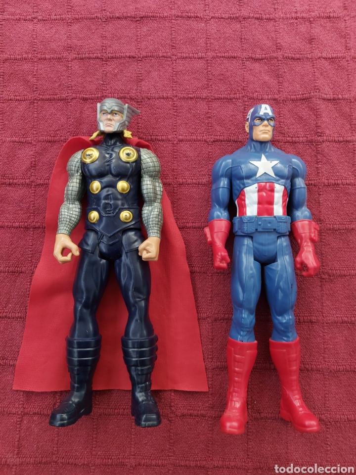 FIGURA DE ACCIÓN THOR HASBRO MARVEL 2013- CAPITÁN AMÉRICA HASBRO 2013-SUPER HEROES LOS VENGADORES (Juguetes - Figuras de Acción - Marvel)