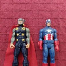 Figuras y Muñecos Marvel: FIGURA DE ACCIÓN THOR HASBRO MARVEL 2013- CAPITÁN AMÉRICA HASBRO 2013-SUPER HEROES LOS VENGADORES. Lote 252445445