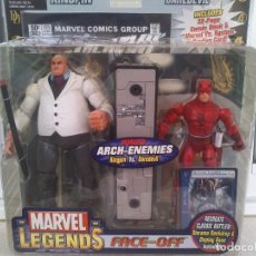 Figuras y Muñecos Marvel: MARVEL LEGENDS SERIE 1 FACE OFF KINGPIN VS DAREDEVIL PACK DIFICIL DE ENCONTRAR. Lote 254004000
