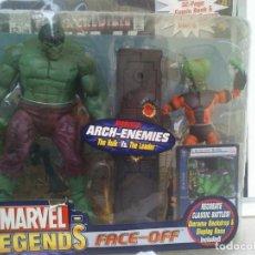 Figuras y Muñecos Marvel: MARVEL LEGENDS SERIE 1 FACE OFF HULK VS THE LEADER PACK DIFICIL DE ENCONTRAR. Lote 254004740