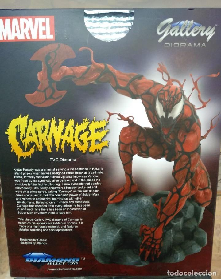 Figuras y Muñecos Marvel: CARNAGE MATANZA 23 CM PVC DIORAMA MARVEL COMIC GALLERY DIAMOND - Foto 3 - 254691545