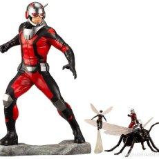 Figuras y Muñecos Marvel: KOTOBUKIYA ESTATUA ASTONISHING ANT-MAN & WASP 19 CM. AVENGERS SERIES ARTFX+. Lote 255014125