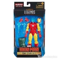 Figuras y Muñecos Marvel: FIGURA TONY STARK (A.I.) 15 CM - IRON MAN - MARVEL LEGENDS SERIES. Lote 269476893